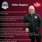 Stephen Lally appointed as senior team manager